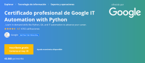 Google IT Automation with Python Professional Certificate (imagen destacada)