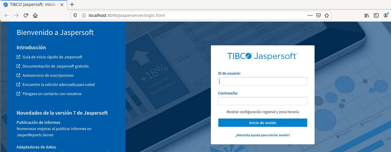 JasperReports Server web access