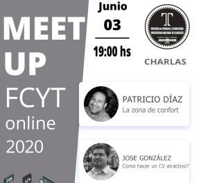 Afiche meetup 3 Junio 2020 FCyT UNCA (imagen destacada)