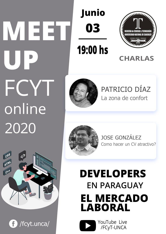 Afiche meetup 3 Junio 2020 FCyT UNCA