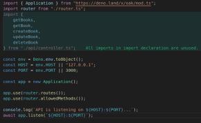 Código TypeScript en Deno (imagen destacada)