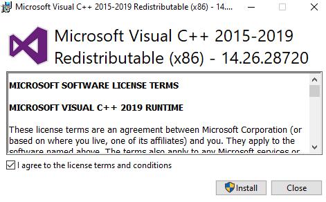 Instalar VC Redist 2015