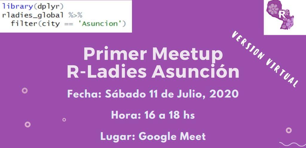 Primer Meetup R-Ladies Asunción - julio 2020