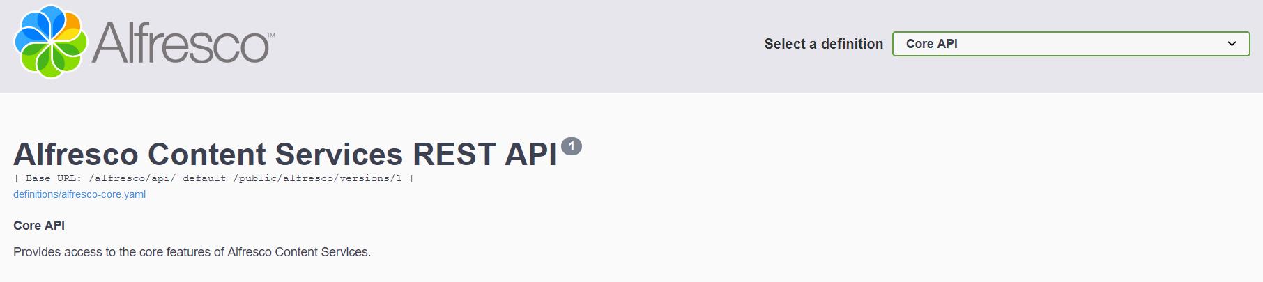 Documentación API-REST-Alfresco