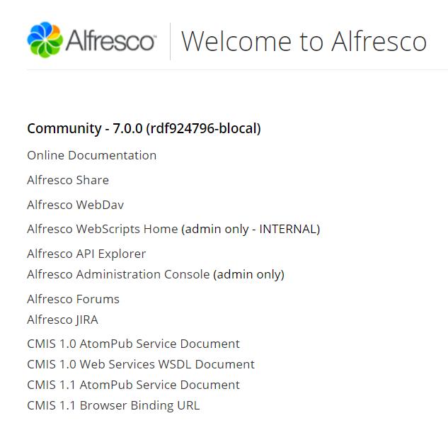 Alfresco Community Edition 7.0