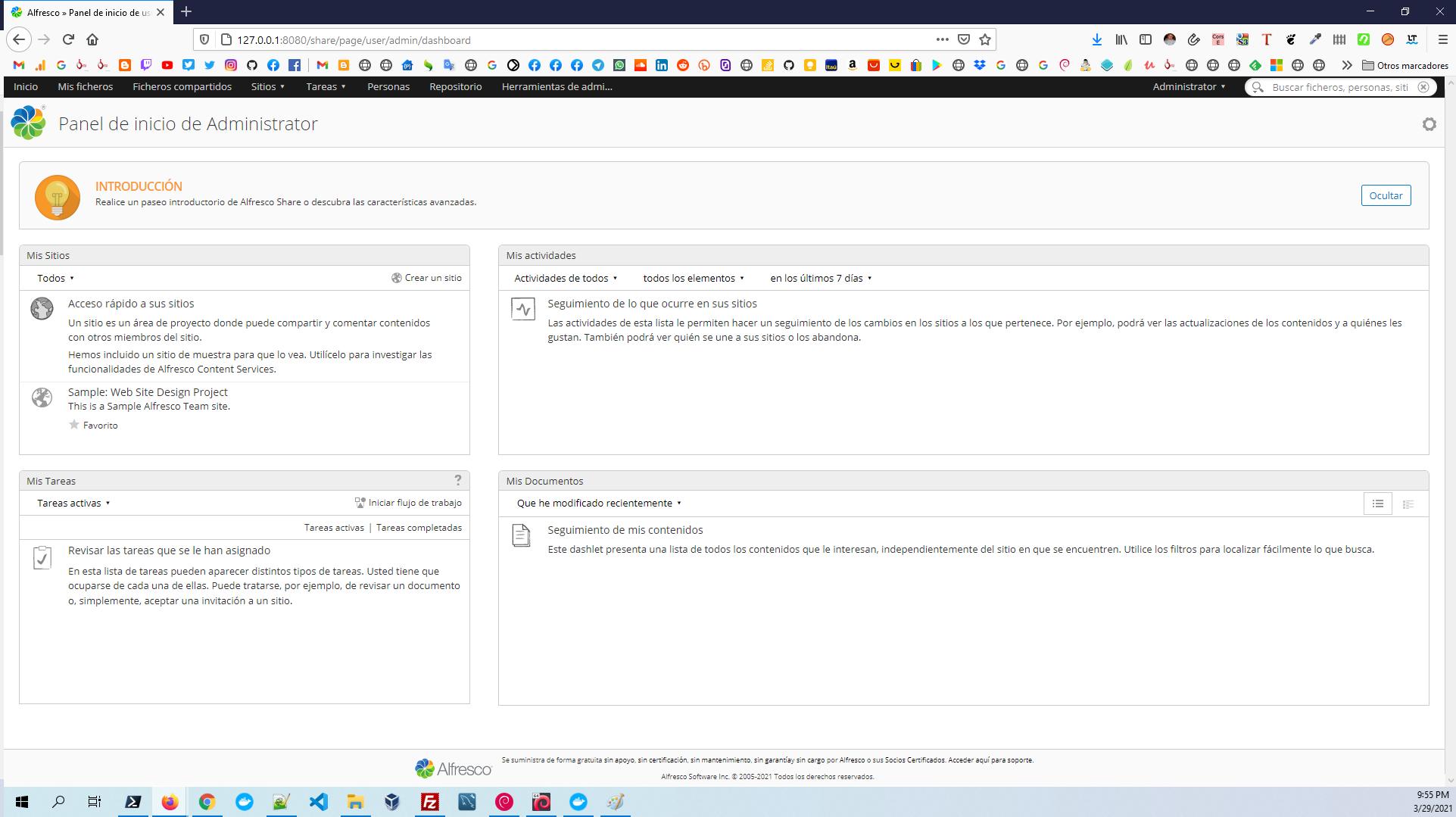 Alfresco Community Edition 7.0 - share