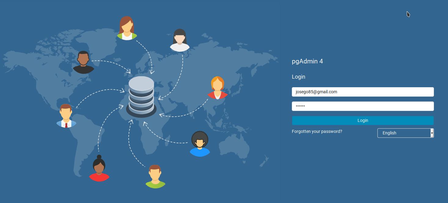 pgAdmin4 en Ubuntu 20.04 LTS - acceso web