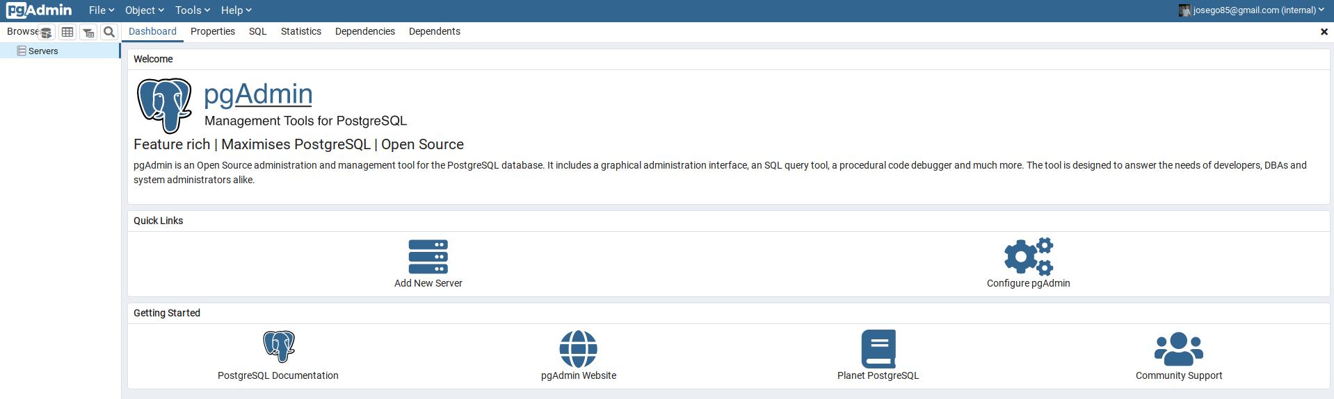 pgAdmin4 Ubuntu 20.04 LTS